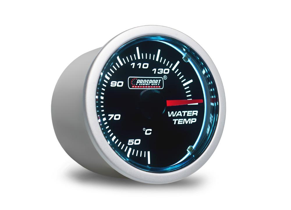 PROSPORT Smoke Lens přídavný ukazatel teploty vody 40-140st. s kouřovým překrytím