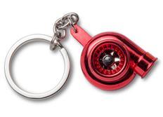 Přívěsek na klíče - turbo, červené