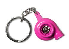 Přívěsek na klíče - turbo, růžové