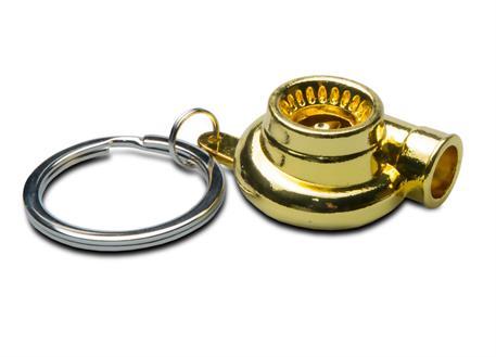 Přívěsek na klíče - turbo, zlaté