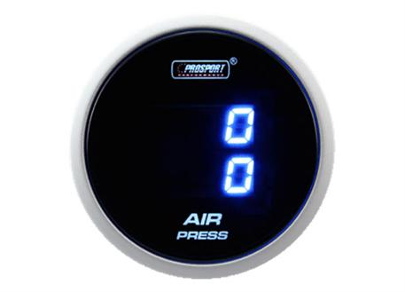 PROSPORT duální digitální ukazatel tlaku vzduchu s modrým podsvícením