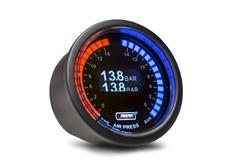 PROSPORT duální digitální ukazatel tlaku vzduchu s LED stupnicí po obvodu a kompaktními elektr. snímači tlaku