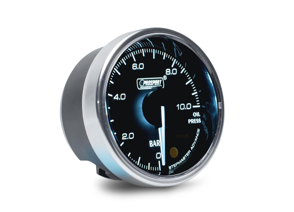 PROSPORT Supreme Series přídavný ukazatel tlaku oleje elektronický 0 až 10 bar