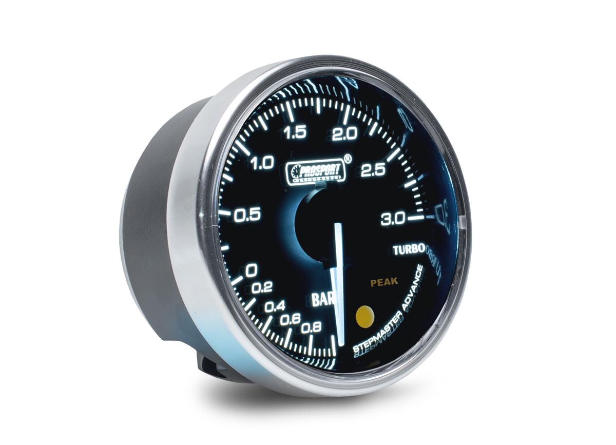 PROSPORT Supreme Series přídavný ukazatel tlaku turba elektronický -1 až 3 bar
