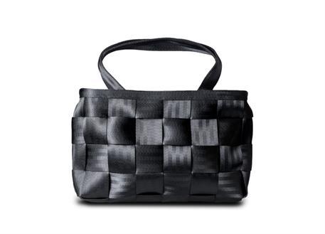 Raemco Dámská kabelka vyrobená z bezpečnostních pásů, černá, menší