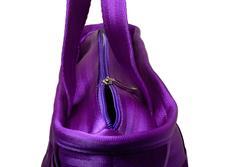 Raemco Dámská kabelka vyrobená z bezpečnostních pásů, fialová, větší