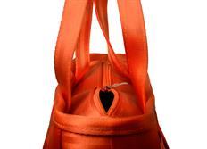 Raemco Dámská kabelka vyrobená z bezpečnostních pásů, oranžová, menší