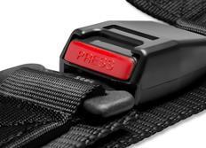 Raemco sportovní 3-bodový bezpečnostní pás černý odpojitelný