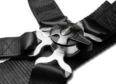 Raemco sportovní 4-bodový bezpečnostní pás černý se otočnou rychlosponou