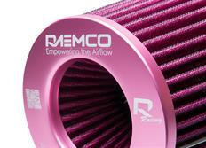 Raemco univerzální vzduchový filtr růžový se vstupem 77 mm s možností redukce na 70 nebo 63 mm