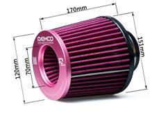 Raemco univerzální vzduchový filtr růžový se vstupem 60 mm