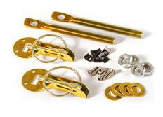Rychlozajišťovací zámky kapoty zlaté