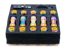 Sada kolových matic M12x1,25 v titanovém vzhledu