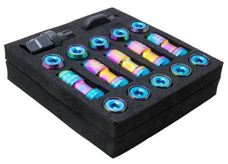 Sada kolových matic M12x1,5 v titanovém vzhledu