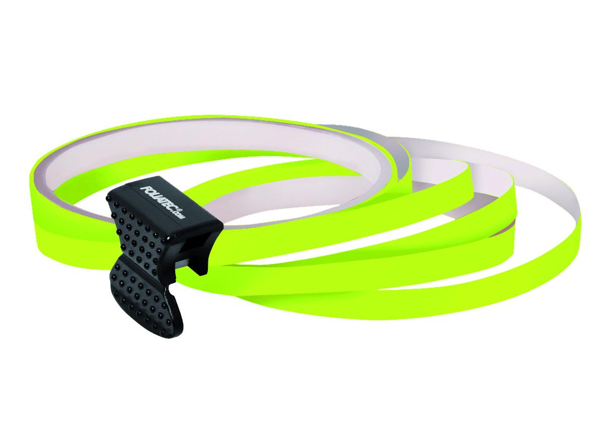 Samolepící linka na obvod kola Foliatec - neonová žlutá