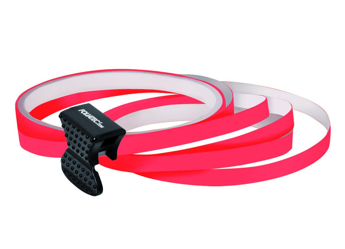 Samolepící linka na obvod kola Foliatec - neonová červená