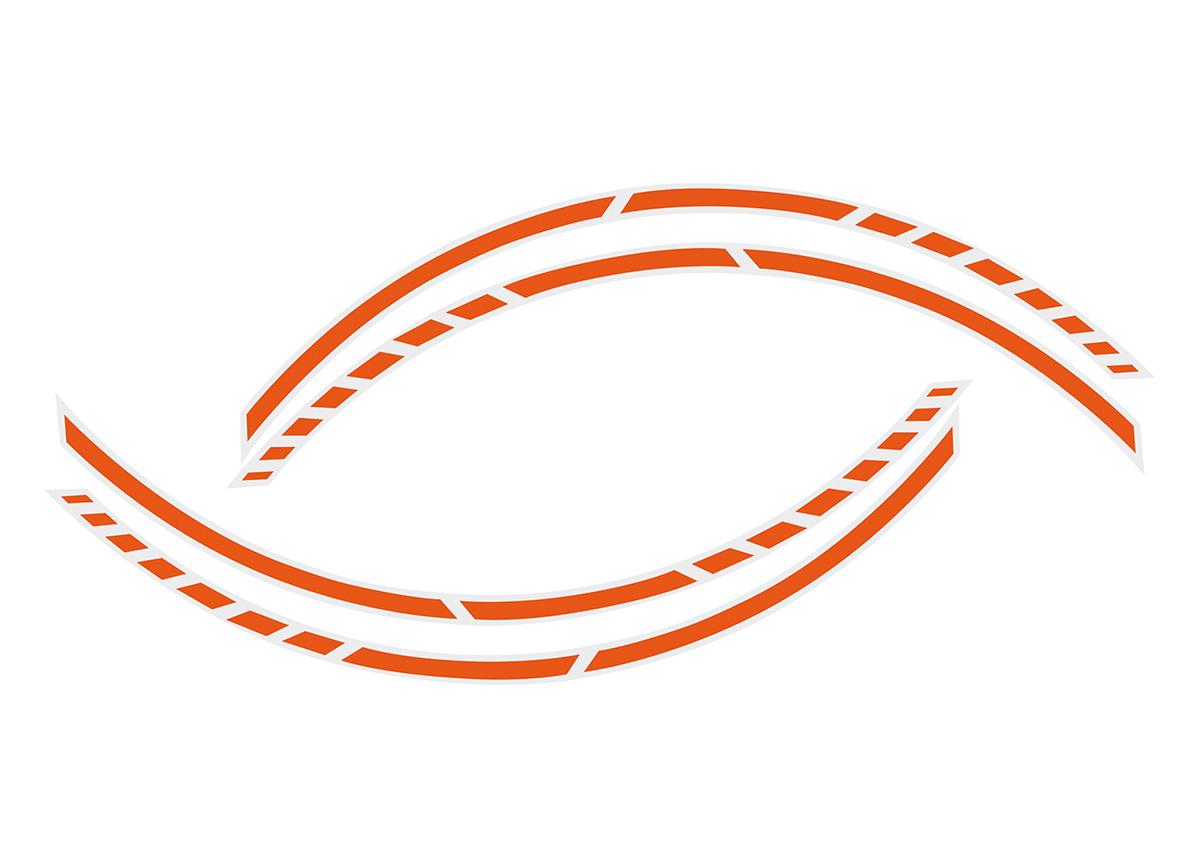 Samolepící linka na obvod kola Foliatec RACING - oranžová