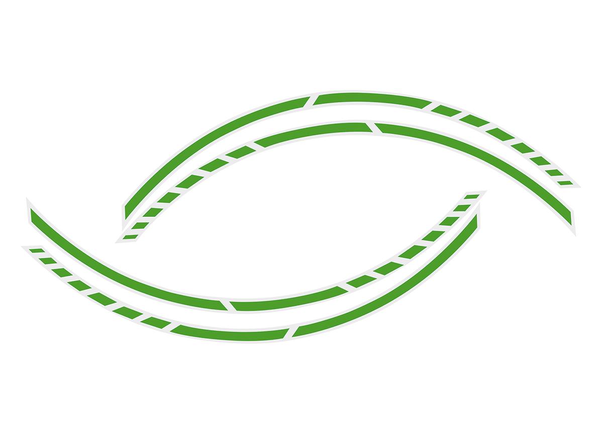 Samolepící linka na obvod kola Foliatec RACING - zelená