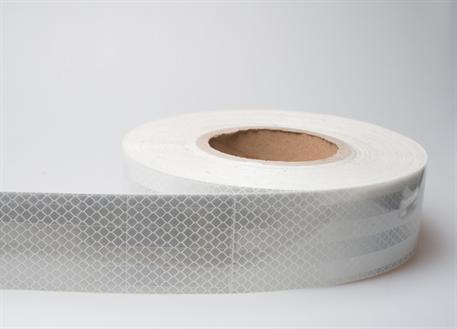 Samolepicí reflexní páska bílá - délka 1m