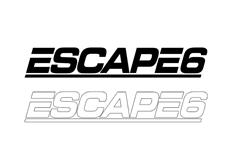 Samolepka Escape6, 30 cm, různé barvy