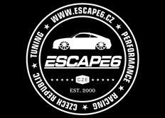 Samolepka Escape6 - kruh, průměr 30 cm, bílá