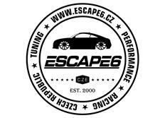 Samolepka Escape6 - kruh, průměr 30 cm, černá