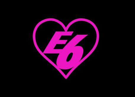 Samolepka E6 srdce, 8 cm, růžová