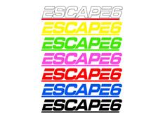 Samolepka Escape6, 15 cm, různé barvy