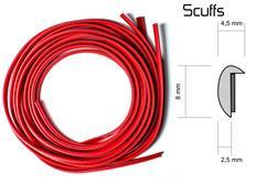 Scuffs - ochranný profil na alu kola červený