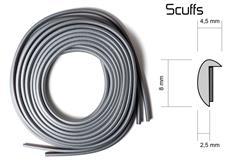 Scuffs - ochranný profil na alu kola stříbrný
