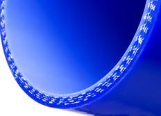 Silikonové koleno 45 stupňů s vnitřním průměrem 54 mm, modré
