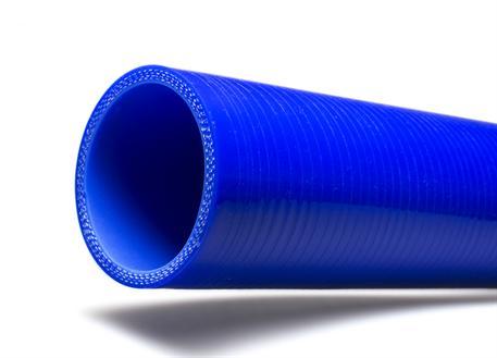 Silikonová rovná hadice s vnitřním průměrem 57mm, modrá, délka 0,5m