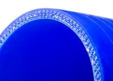 Silikonová rovná hadice s vnitřním průměrem 60mm, modrá, délka 0,5m