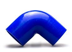 Silikonové redukční koleno 90 stupňů s vnitřním průměrem 70 > 63 mm, modré