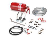 Sparco 014772MSL hasicí systém s manuálním spouštěčem a ocelovou nádobou, 4,25 l, FIA 2000