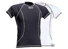 Sparco tričko Basic bílé, černé