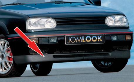 Originální spoiler pod přední nárazník VW Golf III