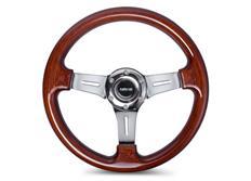 NRG sportovní volant Vintage Wood s průměrem 330 mm, dřevěný s leštěným středem