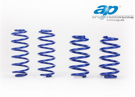 Sportovní pružiny ap Sportfahrwerke pro Peugeot 207, vč. Cabrio, r.v. od 04/06, 1.4/1.6/1.6 150 Turbo, snížení 30/30mm