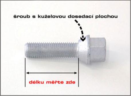 Šroub s kuželovou dosedací plochou M 12 x 1,25 x 33 SW19