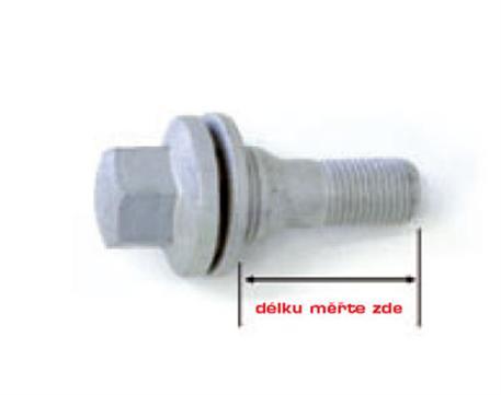 Šroub s plochou hlavou a podložkou M 12 x 1,25 x 49