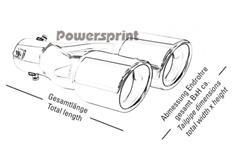 Koncovka výfuku Powersprint kulatá 2x76mm - šroubovací