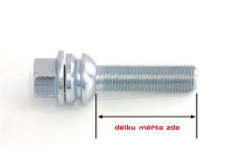 Šroub s pohyblivou kulovou dosedací plochou M 14 x 1,5 x 51