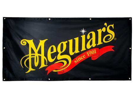 Meguiar's vlajka s logem a závěsnými oky - velikost 140 x 70 cm
