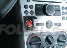 FOLIATEC Startovací tlačítko s integrovanou krytkou - černé