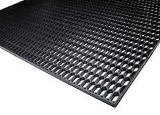 Plastový tahokov 120x40cm s malými plástvemi 15x6mm - černý