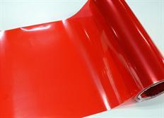 Transparentní fólie červená