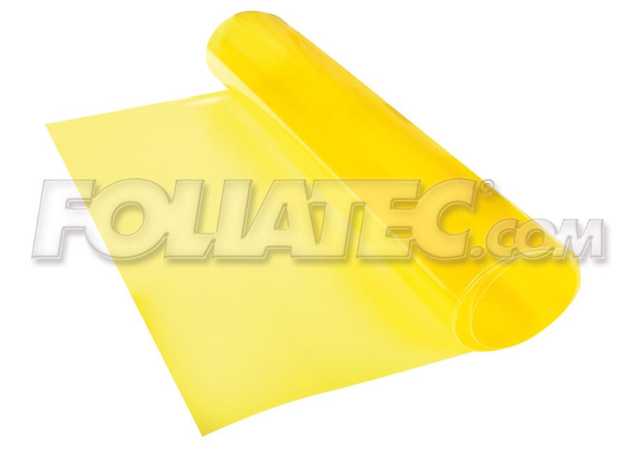 Transparentní fólie na světla FOLIATEC žlutá 100x30 cm