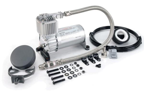 VIAIR vzduchový kompresor 100C Chrom, max. tlak 8,9 bar (130 PSI) / 36 litrů/min