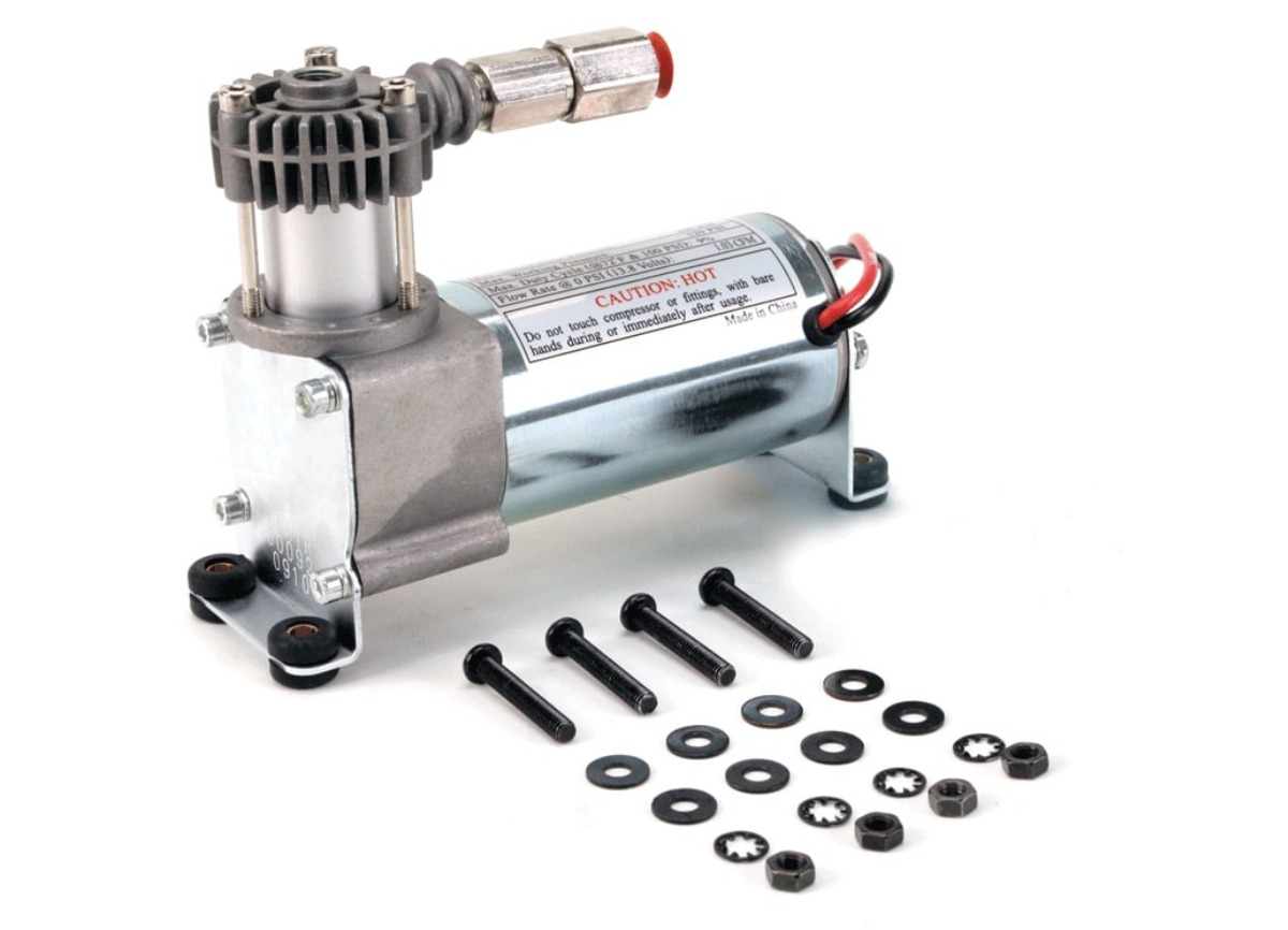 VIAIR vzduchový kompresor 90C Chrom, max. tlak 8,2 bar (120 PSI) / 29 litrů/min